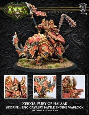 Skorne Epic Cavalry Warlock Xerxis, Fury of Halaak