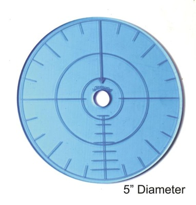 "4Ground 5"" Blast Template (Blue)"