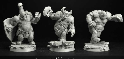 28mm/30mm Ogre Players 6 miniatures set