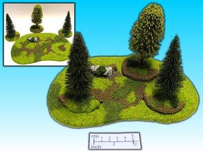 Geländestück Wald 4-teilig