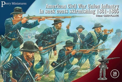 American Civil War Union Infantry in sack coats skirmishing