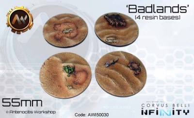 Badlands Bases 55mm (4)