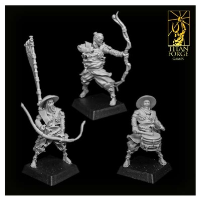 Dragon Empire Ashigaru Archers Command Group (3)