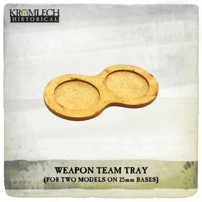 Weapon Team Tray (two models 25mm bases) (7)