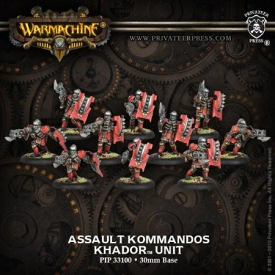 Khador Assault Kommandos Unit Box (10)