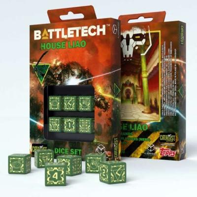 Battletech House Liao D6 Dice (6)