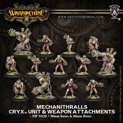 Cryx Mechanithralls & Attachments (13)