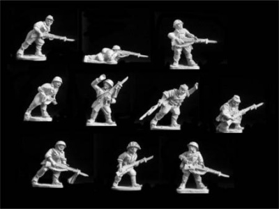 Japan Riflemen Advancing