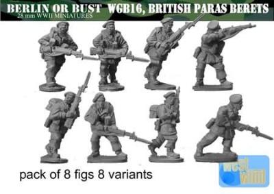British Paratrooper Riflemen with Berets