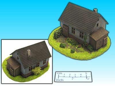 Geländestück Haus mit Anbau (15mm)