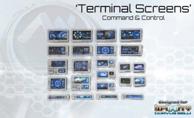 Command Terminal / Computer Console Screens (23) 10003