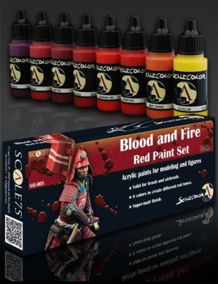 Scale 75: Blood and Fire Paint Set (8)