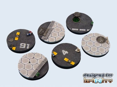 Urban Rubble Bases, 40mm (2)