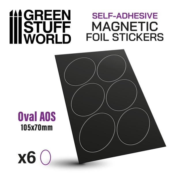 Oval Magnetic Sheet SELF-ADHESIVE - 105x70mm