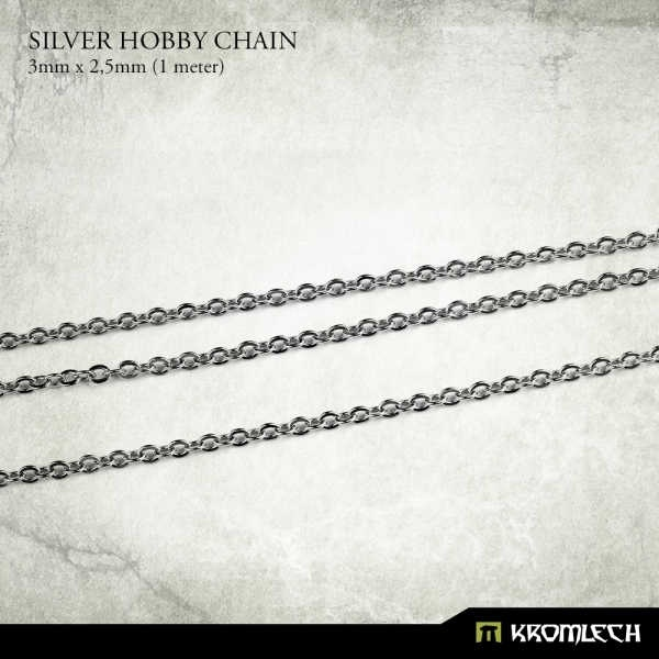 Silver Hobby Chain 3mm x 2,5mm