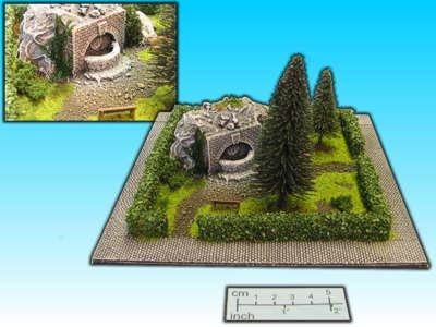 Geländestück Park (15mm)