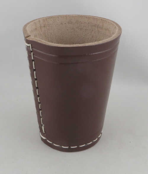 Dice Cup - Würfelbecher Leder BRAUN