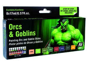 Vallejo Game Color: Game Color Set: Orcs & Goblins (8)