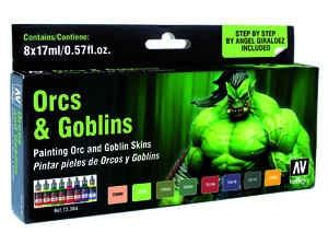 Vallejo Game Color: Game Color Set: Orcs & Goblins (8)