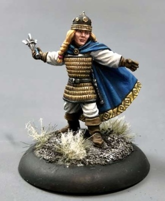 Female Dwarven Cleric with Mace