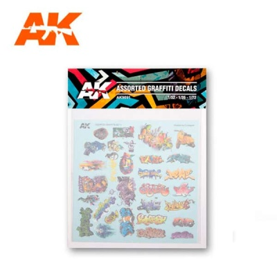 AK Assorted Graffiti decals