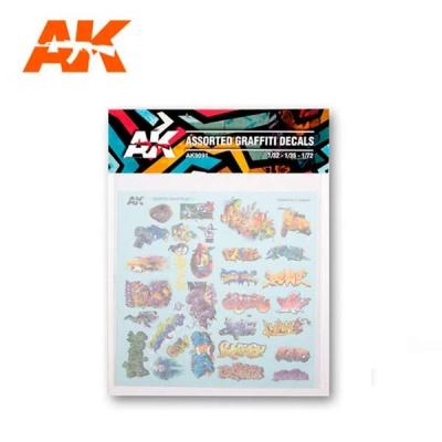 AK Assorted Graffiti decals