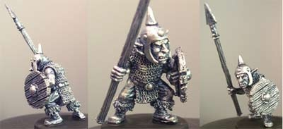 Dima, male goblin with spear