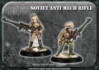 Soviet Anti-Mech Rifles - SHS Mixed Heads (4)