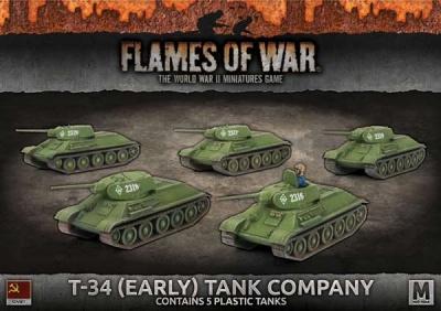 T-34 (Early) Tank Company (Plastic)
