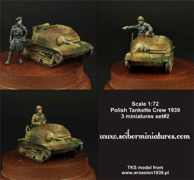1:72 Polish TKS Tankette Crew Set #2 (3)