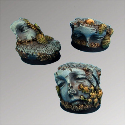 Ancient Ruins 25 mm round bases set1