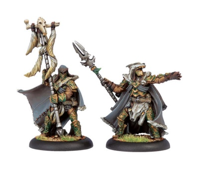 Circle Orboros Wolves Master of the Hunt & Totem Bearer UA