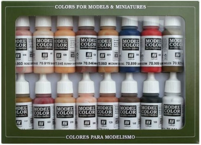 Model Color Set 25: Face/Skin Colours (16)