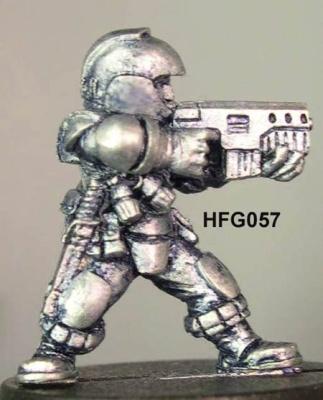 Dagni (b), Helmeted Light infantry trooper with SMG