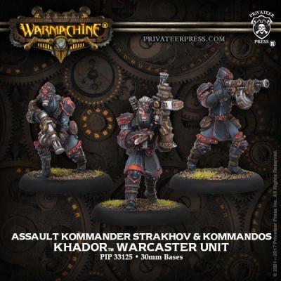 Khador Kommander Strakhov & Kommandos