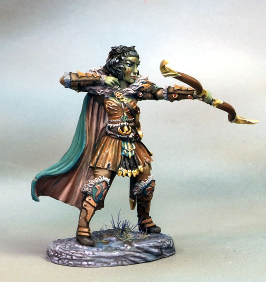 Female Half Orc Ranger with Bow