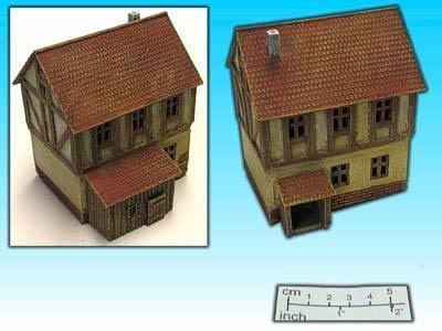 Geländestück Fachwerkhaus I (15mm)