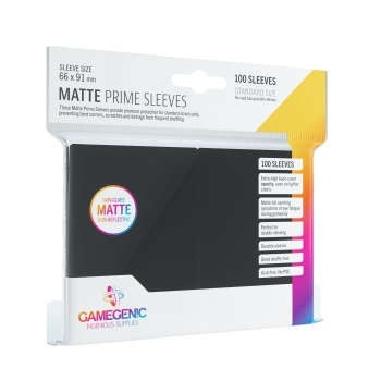 MATTE Matte Prime Sleeves Black (66x91mm) (100)