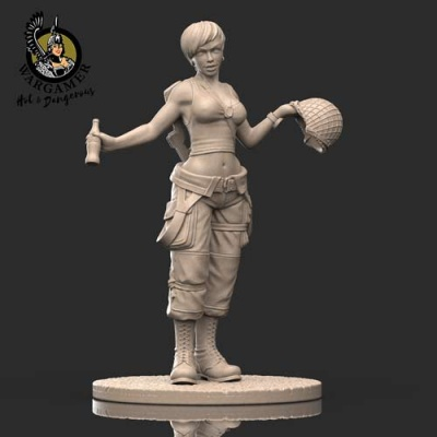 Jane, the US Paratrooper (28mm)