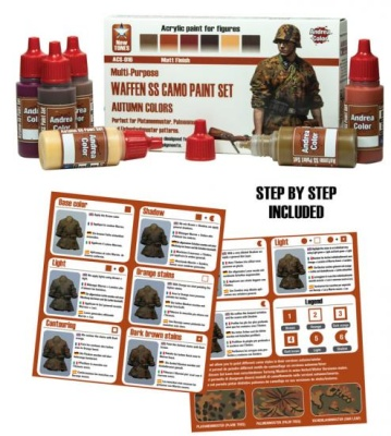 Waffen SS Camo Paint Set (autumn colors)