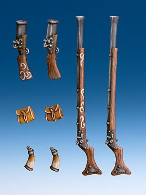 Piraten Schwere Waffen (Set von 4 + 4)