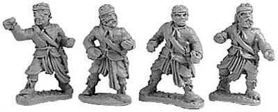 Mountain Indian Spearmen (random 8 of 4 designs)