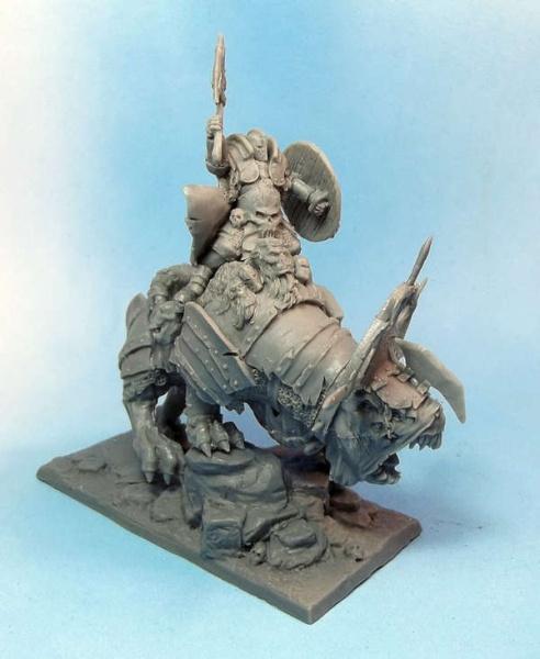 Barbarian Hero on Beast