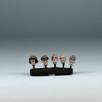 WWII German Zombie Heads (20xHeads)