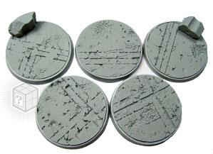 Beveled Edge 40mm Ruined Temple Bases (5)