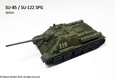 Soviet SU85/SU122 Self propelled gun (1/56)