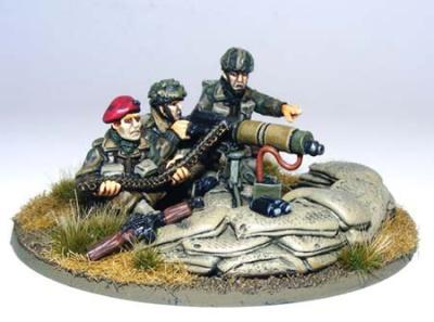 British Paratrooper Vickers HMG Team
