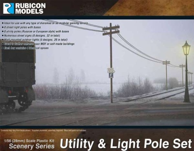 Utiliy & Light Pole Set