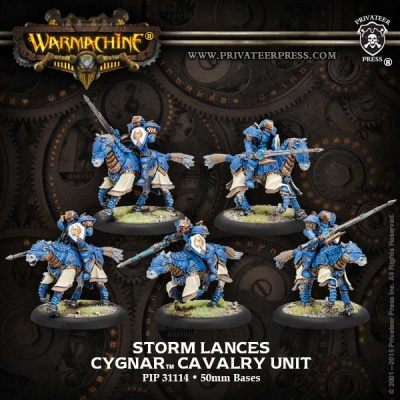 Cygnar Storm Lances Cavalry Unit (5)