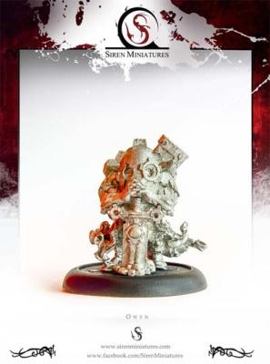 Owyn - Masked Dwarf w Sword METALL